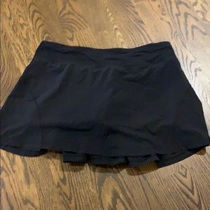 Black lululemon tennis skirt size 8